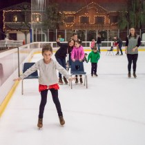 Ice skating at the Redwood Empire Ice Arena