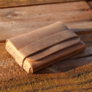 Minimal Deri Koyukahve Kutu Kartlık-Roda
