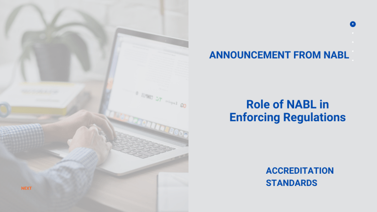 Clarification on the Role of NABL in Enforcing Regulations