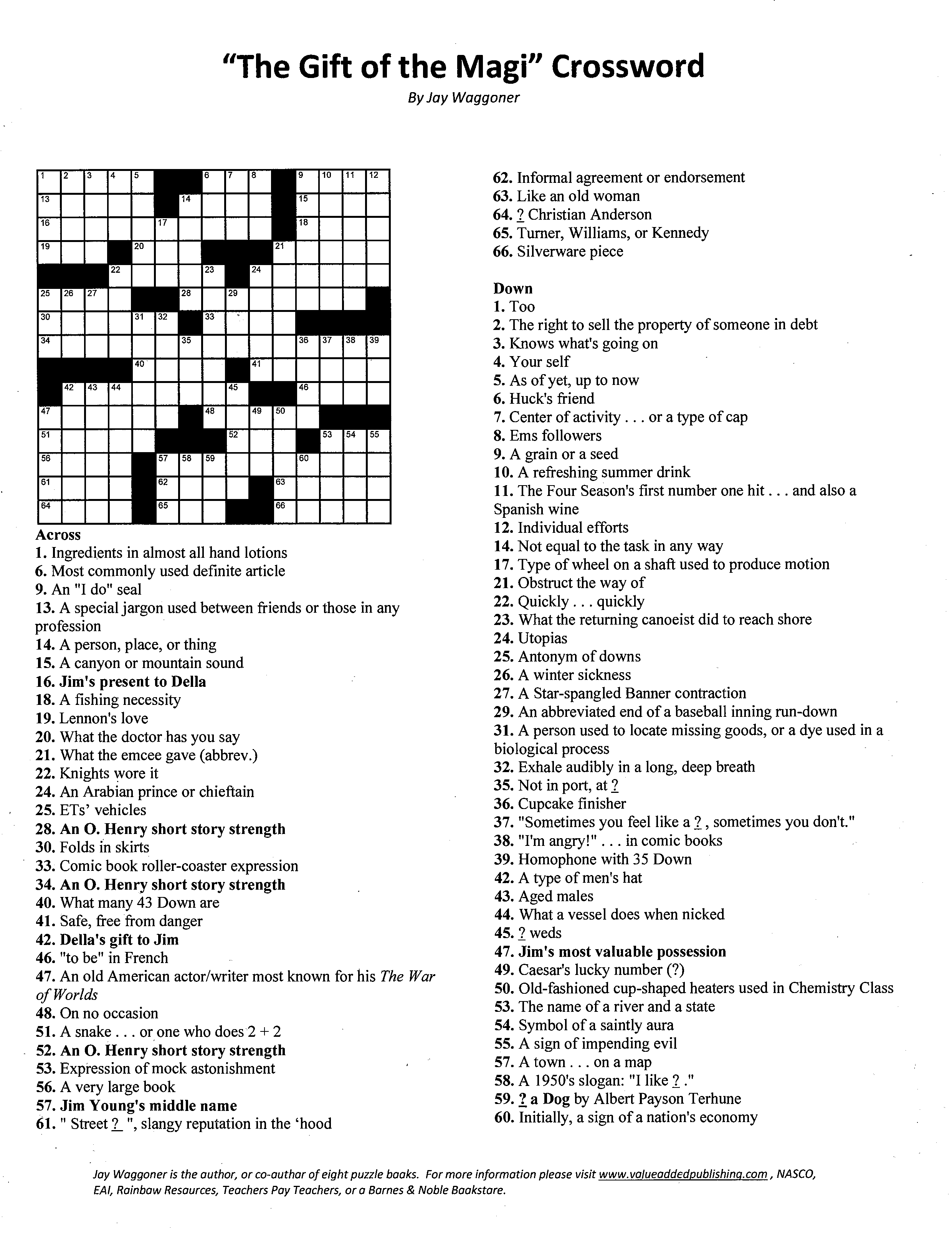 Crossword T Of The Magi