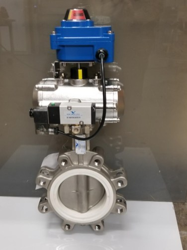 5 in Stainless Lug Valve _ Actuator