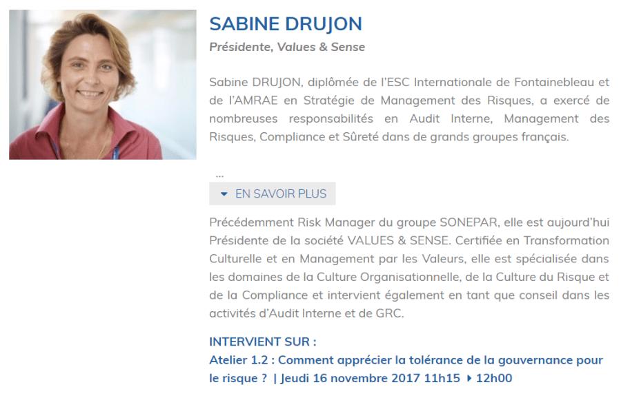 Bio de Sabine DRUJON