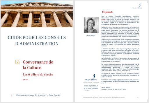 Gouvernance de la Culture - Les 6 piliers du succès