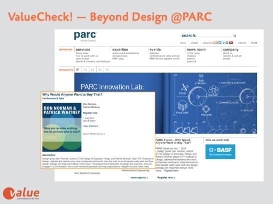 Valeu Check PARC Design Technology Event July 1st, 2014.001