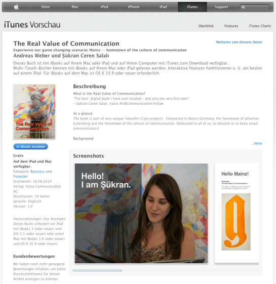 ITunes Download Value Art+Com iBook
