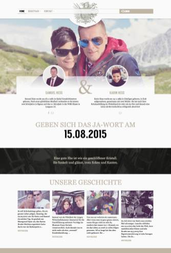 Wedding Tooll: Landingpage