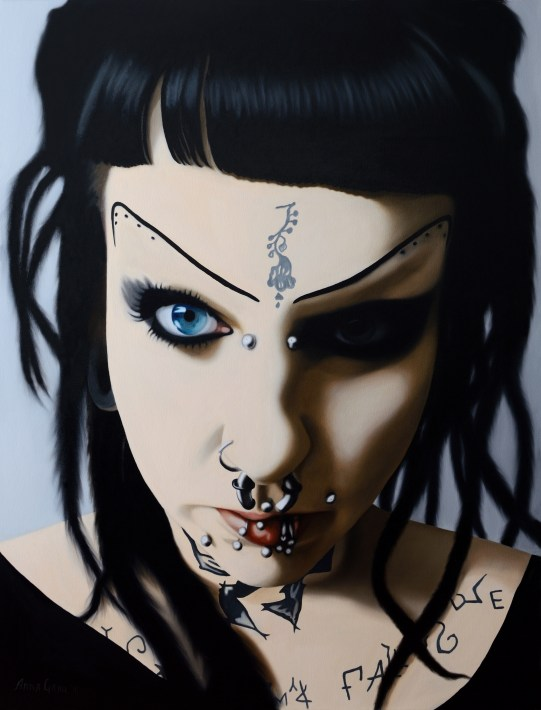 Anna Grau: Lilith.1, Öl/Leinwand, 100x130 cm