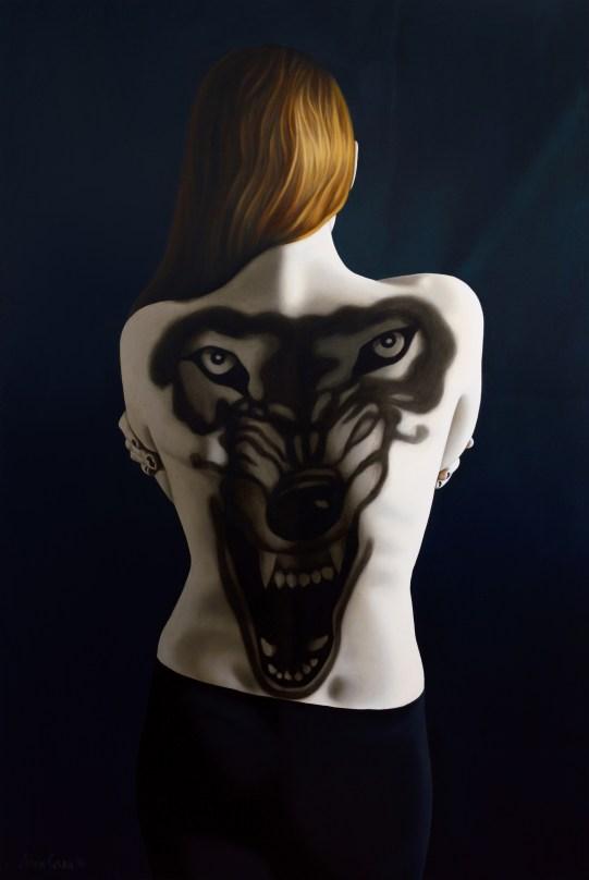 Anna Grau: Lilith.4, Öl/Leinwand, 100x160 cm