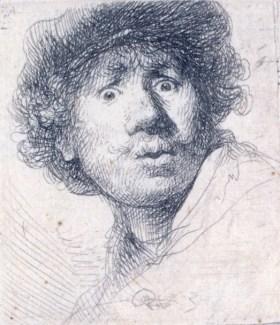 Selbstbildnis — Radierung von Rembrandt