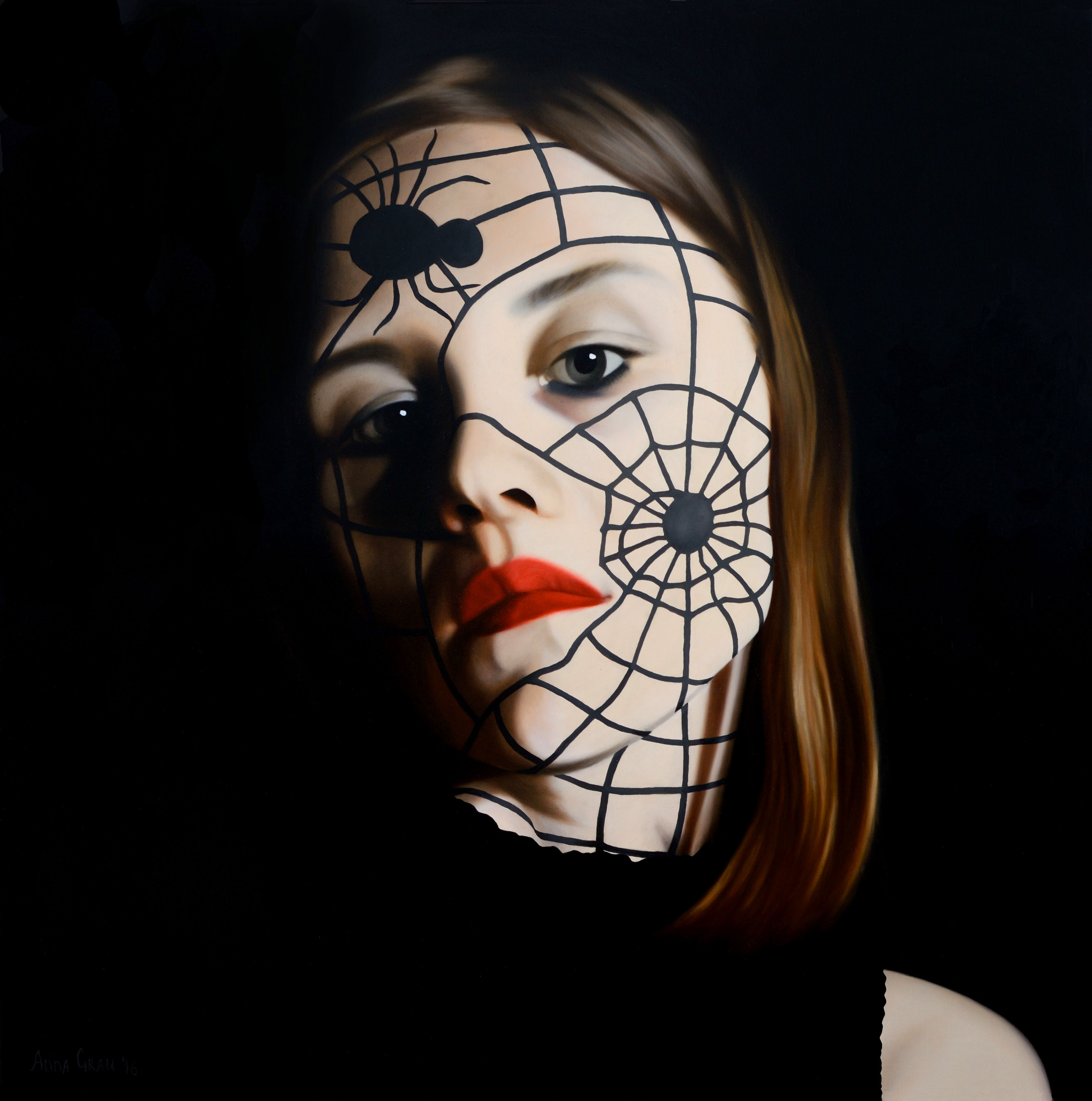 Anna Grau: Lilith.5, 2016. 120x120 cm, oil/canvas.