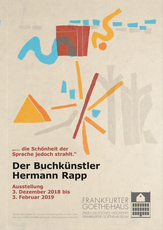 PLakat Goethe-Haus zu Hermann Rapp