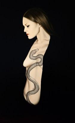 Anna Grau: Lilith.10, 2018. Öl/Leinwand, 160x100 cm.