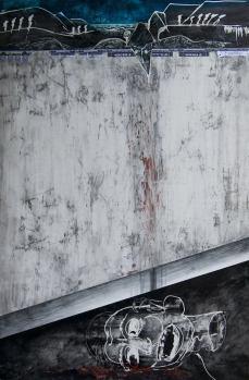 """""""Es reicht!"""" — Gemälde, 2015."""