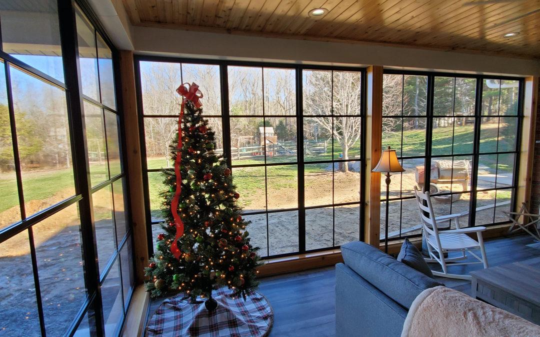 a sunroom and a patio enclosure