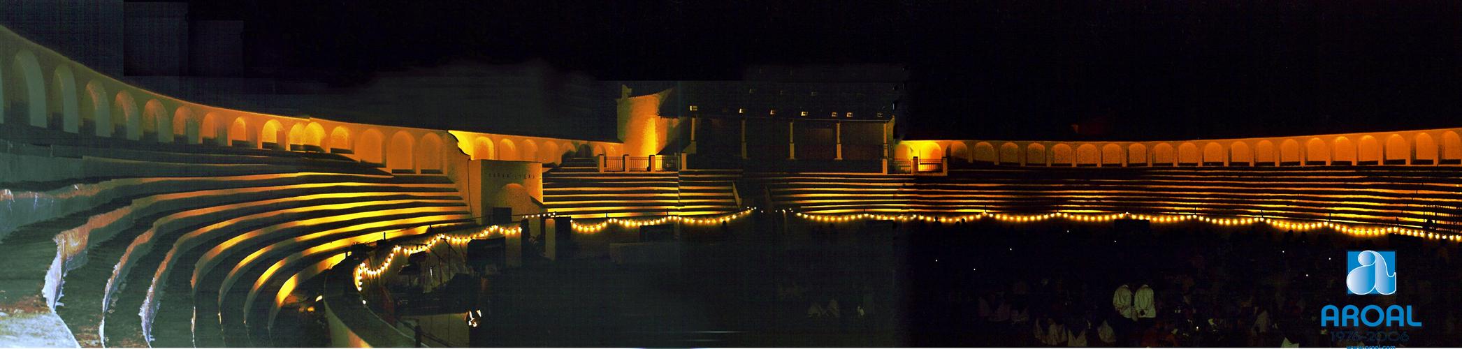 Plaza de Toros iluminada. Valverde del Camino