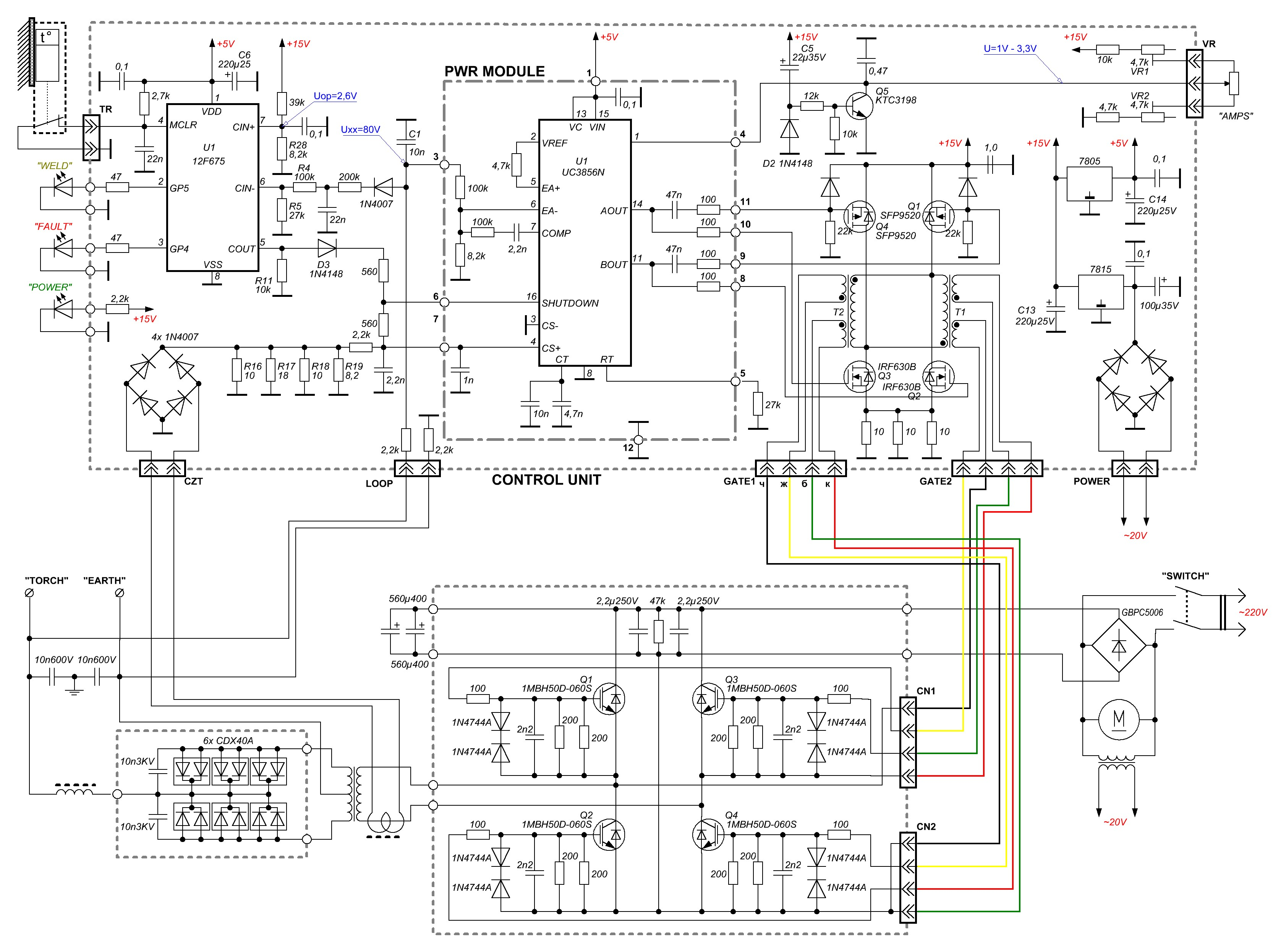 Igbt Mma 160a Arc Welder Welding Inverter Schematic View