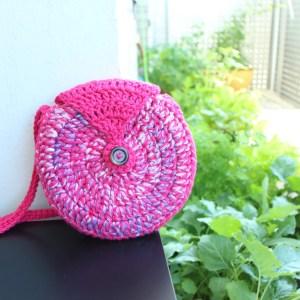 Round Crochet Bag