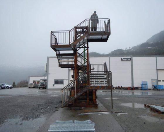 Bygging av trappetårn