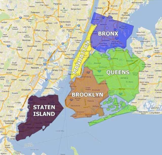 Районы Нью-Йорка