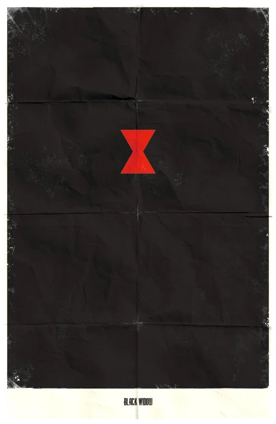 Vamers - Marko Manev - Minimalist Marvel Posters - Black Widow