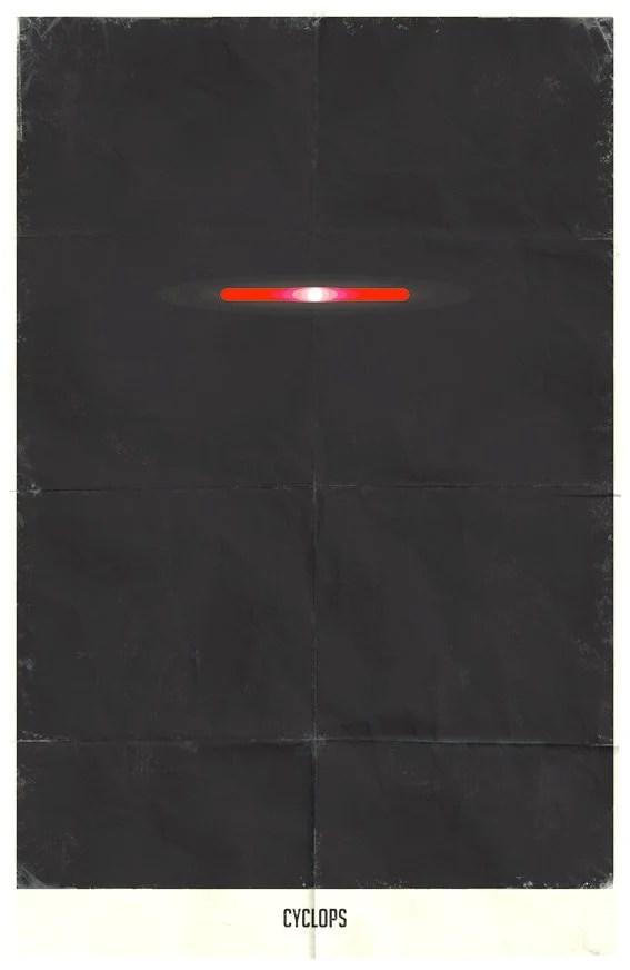 Vamers - Marko Manev - Minimalist Marvel Posters - Cyclops
