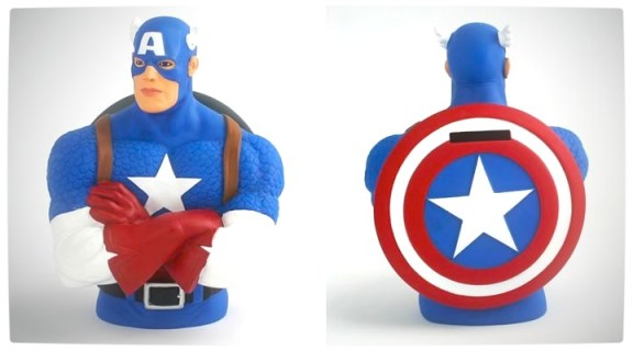 Vamers - Win WIth Vamers - Captain America Coin Bank