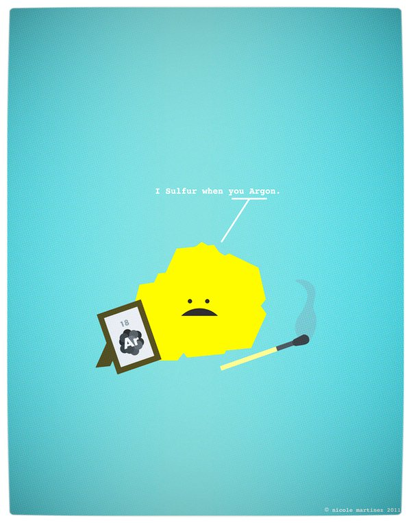 Vamers - Artistry - Minimalist Geek Love Posters - I Sulpher When You Are Gone