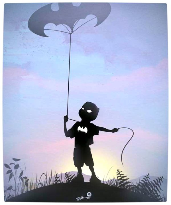 Vamers - Artistry - Superhero Kids Silhouettes - Batman Kid