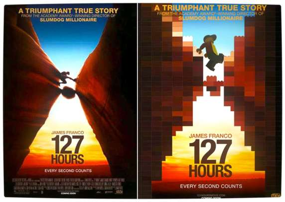 Vamers - Fandom - Movie Lego Posters - 127 Hours