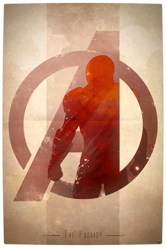 Vamers - Artistry - Anthony Genuardi - Minimalist Avengers Initiative Posters - Iron-Man
