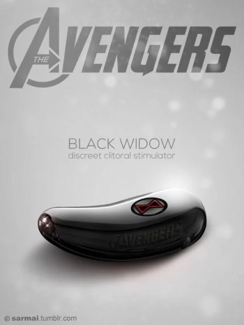 Vamers - Ermahgerd - Earth's Mightiest Sex Toys Assemble as The Avengers Dildos - Black Widow