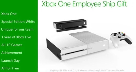 Vamers - Gaming - Microsfot Gifts White Xbox One's to Employees
