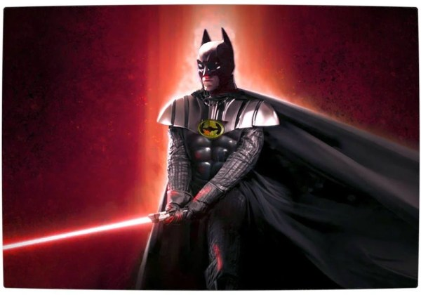 Vamers - Artistry - Bat Vader is The Dark Knight of the Sith - Batman and Darth Vader Mash-Up - Art by Hightknif