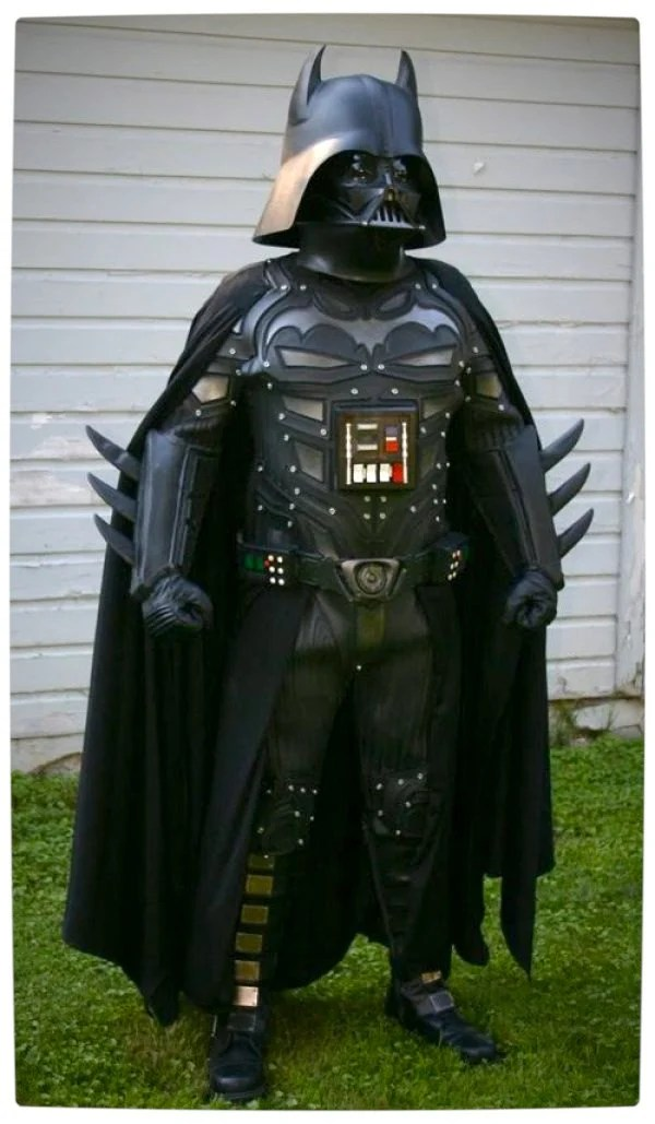 Vamers - Artistry - Bat Vader is The Dark Knight of the Sith - Batman and Darth Vader Mash-Up - Full Body