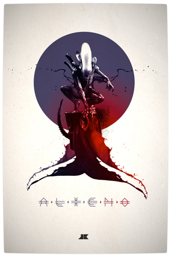 Vamers - Artistry - Beautifully Stylized Posters Of Heroes and Villains - By Josip Kelava - Aliens
