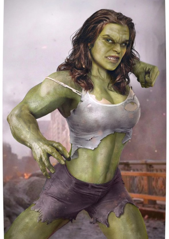 Vamers - Artistry - Female Avengers - See the Superheroes Recast as Women - Rachel Weisz as She Hulk
