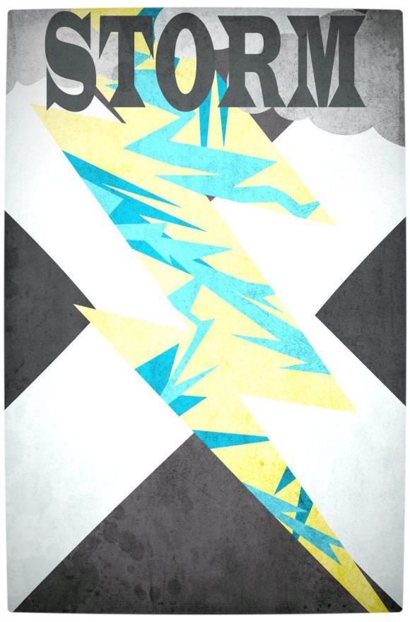 Vamers - Artistry - Minimalist X-Men Poster Art - Storm