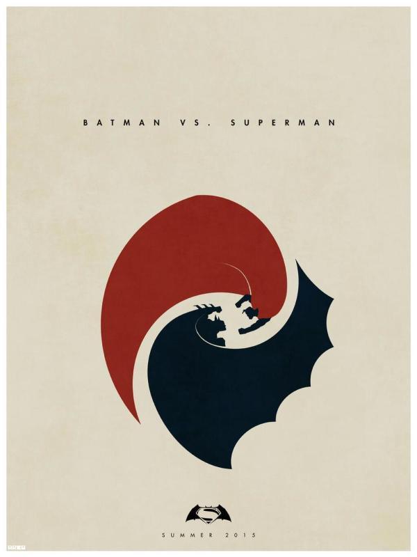 Vamers - Artistry - Superman versus Batman Yin and Yang by Matt Ferguson