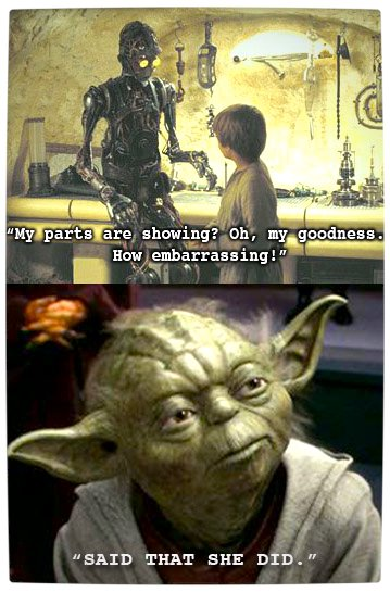 Vamers - Humour - Said That She Did - A Meme By Yoda - Embarassed