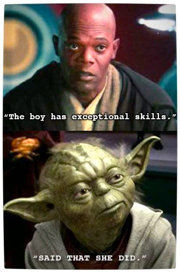 Vamers - Humour - Said That She Did - A Meme By Yoda - Skills