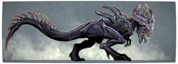 Vamers - Artistry - Aliens VS Dinosaurs - Xenomorph Tyrannosaurus Rex - Full Horizontal Proper