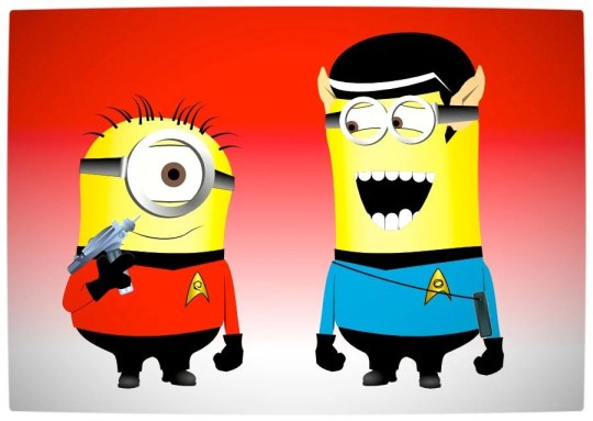 Vamers - Artistry - Star Trek Minions Banana Me Up - Rebooted Spock and Captain James T. Kirk