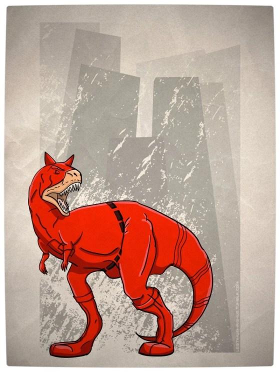 Vamers - Artistry - Superhero Dinosaurs Cretaceously Cool - Daredevilnotaurus