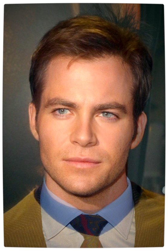 Vamers - Ermagherd - Composite Image of Every Captain James T. Kirk is Ruggedly Handsome - Chris Pine and William Shatner Merged into One