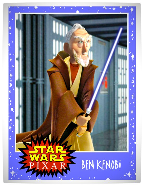 Vamers - Artistry - Star Wars as if it had been created by Pixar - Ben Kenobi