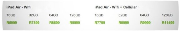 Vamers - Gadgetology - iPad Air Now Available in South Africa - Price List