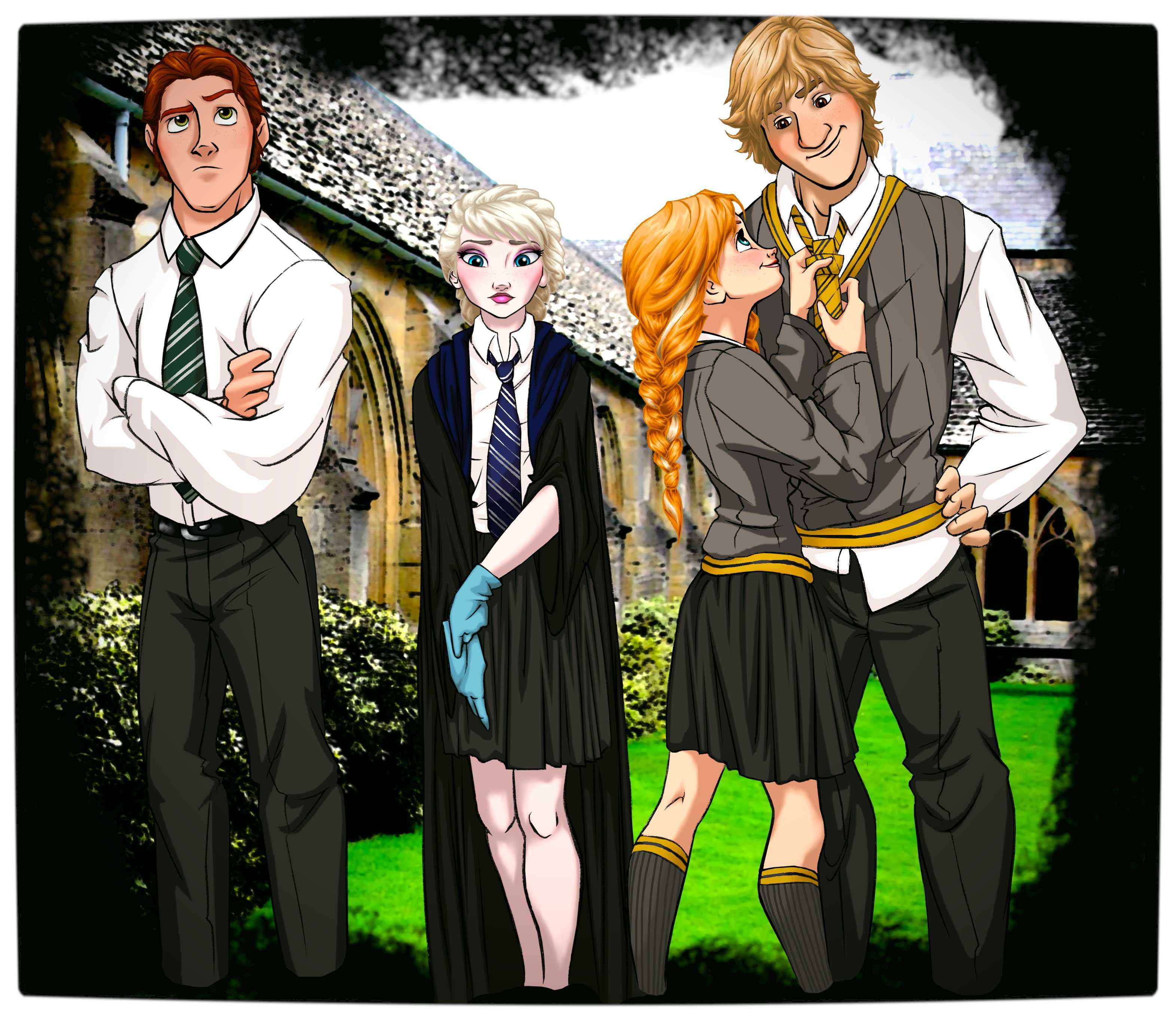 Disney At Hogwarts Imagines Disney Royalty As Harry