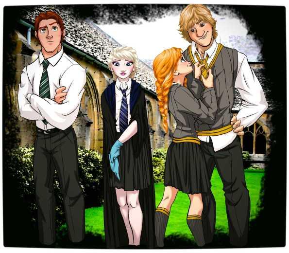 Vamers - Artistry - Mash-Up - 'Disney at Hogwarts' Imagines Disney Royalty as Harry Potter's Peers - Art by Eira1893 - Disney at Hogwarts 06