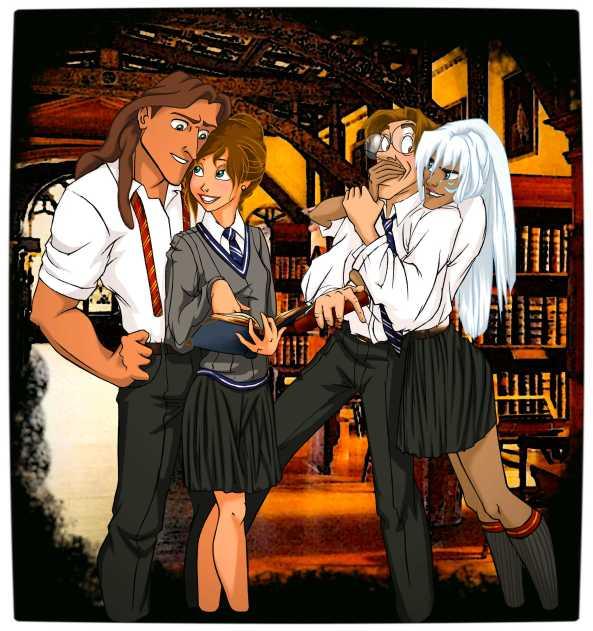 Vamers - Artistry - Mash-Up - 'Disney at Hogwarts' Imagines Disney Royalty as Harry Potter's Peers - Art by Eira1893 - Disney at Hogwarts 07