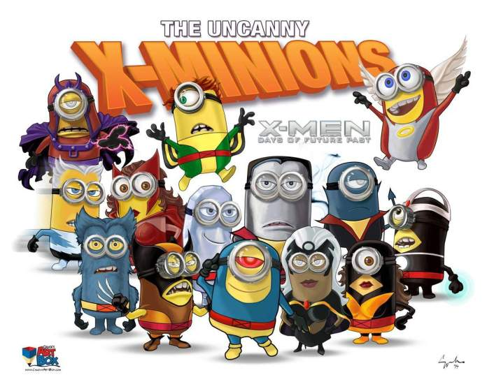 Vamers - Artistry - X-MINIONS Days of Future Past - Despicable Me Minions as X-MEN - Full Roster of Uncanny X-MEN